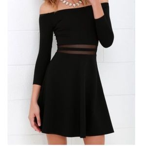 Lulus Yes To The Mesh Skater Dress